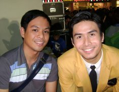 The author and Christian Bautista