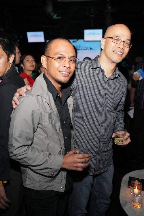 Nickie Wang (left) and Solar Entertainment chief operating officer and Project Runway Philippines executive producer Peter Chanliong