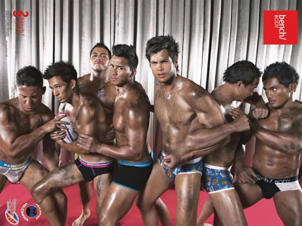 Philippine Volcanoes get dirty in their undies for Bench Body 2012