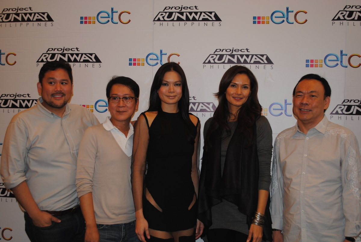 Rajo Laurel, Jojie Loren, Apples Aberin, Tweetie de Leon and Solar's head honcho Wilson Tieng during the launch of Project Runway Philippines