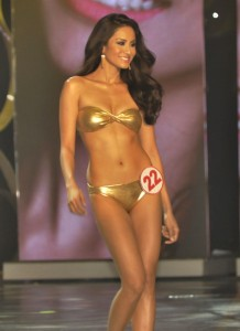Queenierich Rehman in her winning form during Miss Philippines World 2012 swimsuit competition.