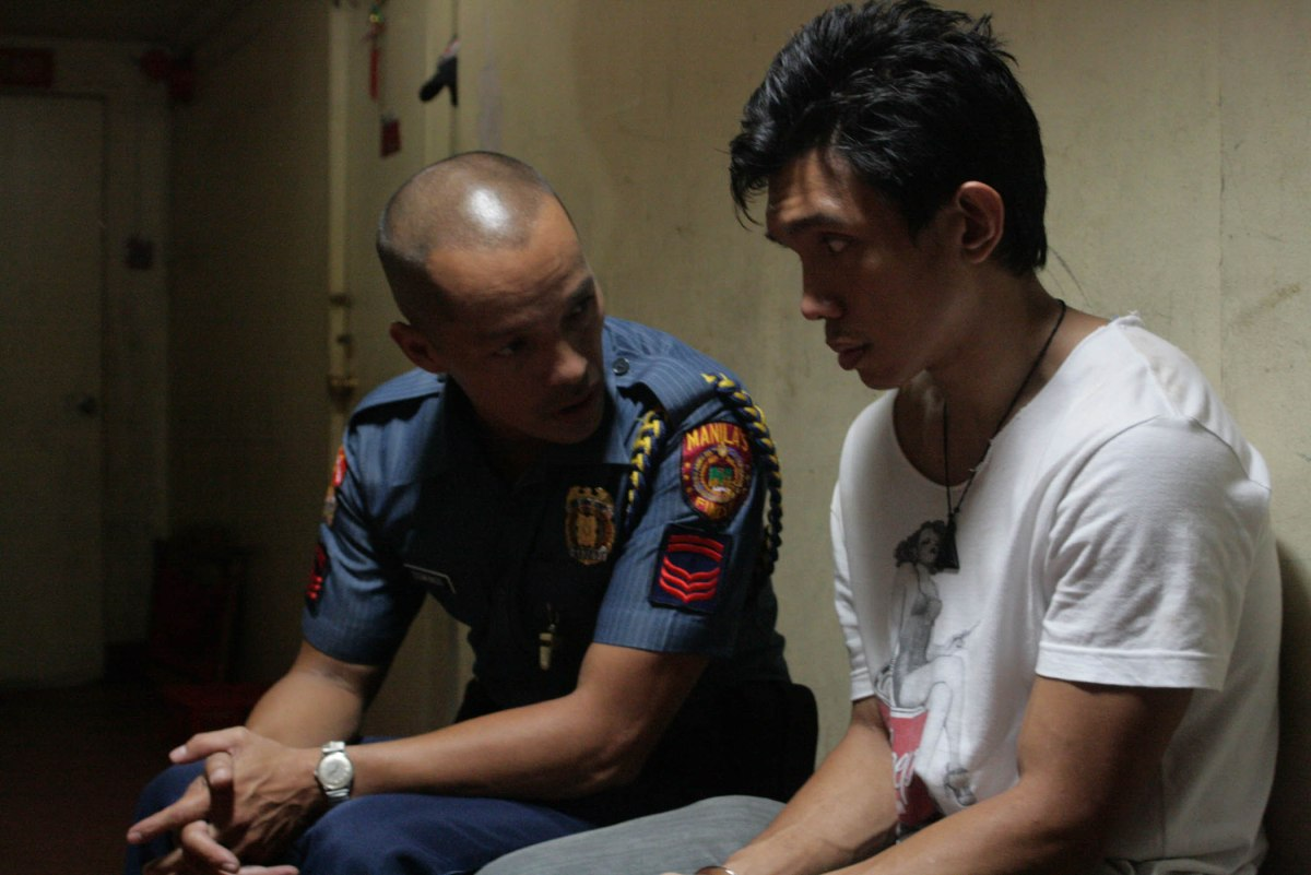 Cinemalaya 2012 Best Supporting Actor (Director's Showcase) Art Acuna and co-actor Nico Antonio in the Best Film in the Director's Showcase section, Posas