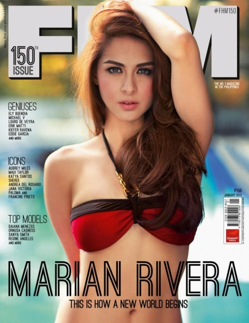 Marian Rivera sexy FHM cover for January 2013