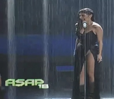 Anne Curtis pantyless on ASAP 18