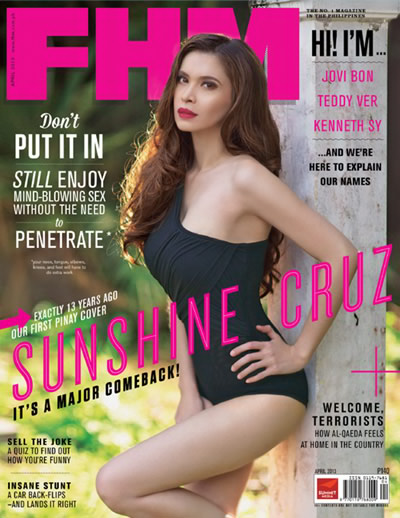 sunshine cruz fhm 2013.
