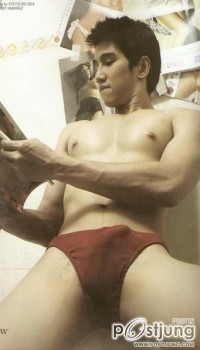 The photo, which went viral, showed that an alleged Albie Casino is holding a men's magazine while only wearing briefs. The picture also showed that the alleged Albie Casino had a boner. The photo has been confirmed to be true but the person is not Albie but former male model Matthew Belino.