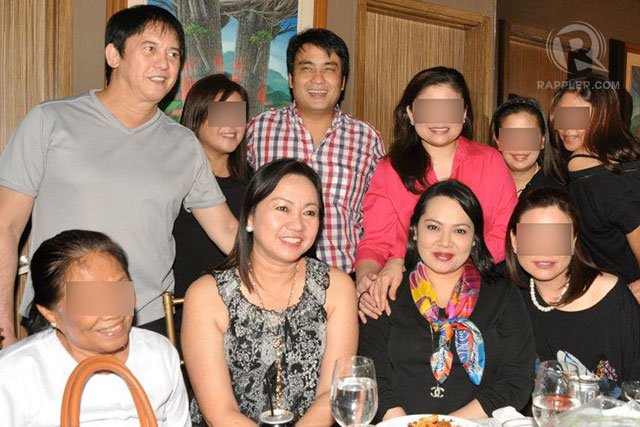 Janet Napoles and her BFF (?) Senator Bong Revilla and (another BFF) Philip Salvador