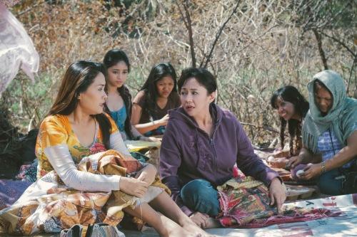 Vilma Santos in one of the scenes in Eksta