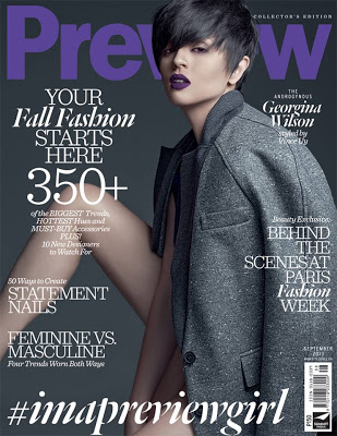 Georgina Wilson on Preview September 2013 issue