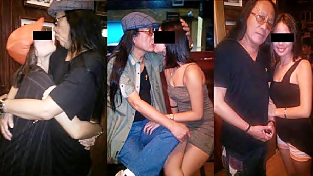 Freddie Aguilar kissing 16 yr old girlfriend