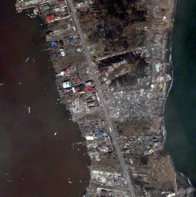 Satellite Image of Tacloban City, Philippines