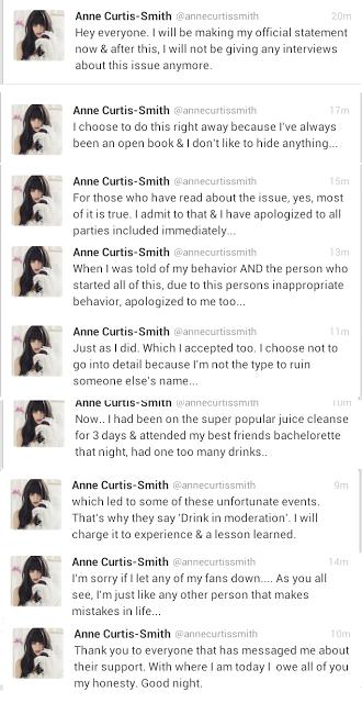 Anne Curtis Apology