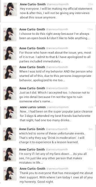 Anne Curtis Apology