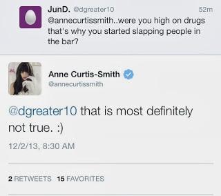 Anne Curtis in a drug addict tweet