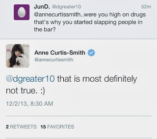 Anne Curtis in a drug addict tweet