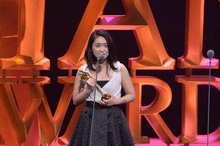 Japanese actress Ikewaki Chizuru_receives the Best Support